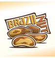 logo for brazil nuts vector image vector image