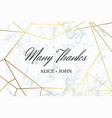 many thank geometric design card template vector image vector image