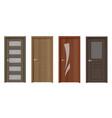 modern wooden door realistic vector image