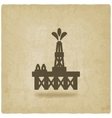 oil platform symbol vector image vector image