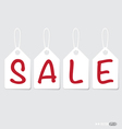 Paper price tags design vector image
