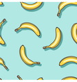 Pattern of bananas vector image vector image