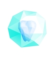 Polygonal tooth vector image vector image