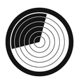 Radar black simple icon vector image