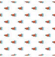red retro megaphone pattern vector image