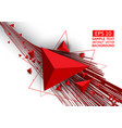 red triangle and line abstract background with vector image vector image