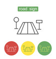 road sign outline icons set vector image