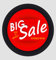 sale banner template design red round advertising vector image