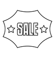 Sale sticker icon outline style vector image vector image