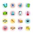 Sanitary engineering comics icons vector image vector image