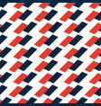 seamless black and red op art rectangle pattern vector image