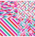 seamless colored geometric pattern background vector image vector image
