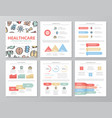 set of colored medical and healthcare elements for vector image vector image