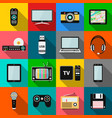 set of technology and multimedia devices icons vector image vector image