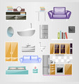 sets home accessories furniture design vector image