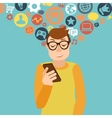 Smartphone addiction concept vector image vector image