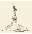 Statue of Liberty hand drawn vector image vector image