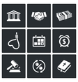 The consequences of the credit icons vector image vector image