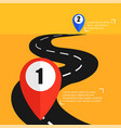 the road from point a to punt b way to success vector image vector image