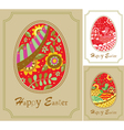 three easter card vector image vector image