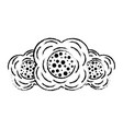 three flower natural decoration ornament image vector image