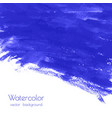 turquoise navy blue indigo watercolor texture vector image vector image