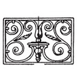 wrought-iron oblong panel is french 18th century vector image vector image