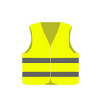 yellow safety vest isolated on white background vector image vector image