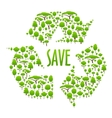 Recycling icon composed of green trees vector image