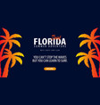 florida surfing graphic with palms surf club vector image