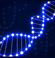 abstract spiral of dna neon molecular background vector image
