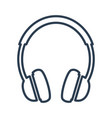 headphone icon on white background vector image