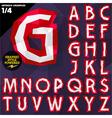 Crumpled paper alphabet vector image