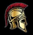 gladiator spartan helmet vector image