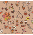 pattern love in red vector image
