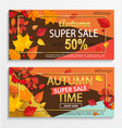 set of modern banners for autumn super sale vector image