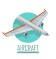 airplane icon in isometric projection vector image vector image