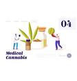 alternative cbd remedy or medication landing page vector image