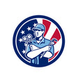 american air-con serviceman usa flag icon vector image vector image