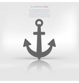 Anchor web icon vector image