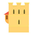 ancient fortress icon cartoon style vector image vector image