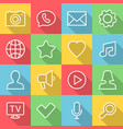 application communication icons set in flat vector image vector image