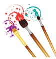 Artist Brushes with Paint7 vector image