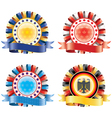Award ribbon rosettes National flag colors vector image vector image