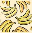 banana watercolor seamless pattern juicy fruits vector image