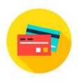 bank card circle icon vector image