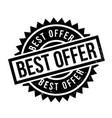 best offer rubber stamp vector image vector image