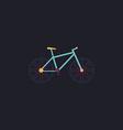 Bicycle computer symbol vector image