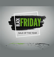 black friday sale green banner for web or advert vector image