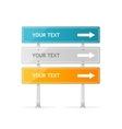 Blank traffic sign with white arrow header vector image vector image